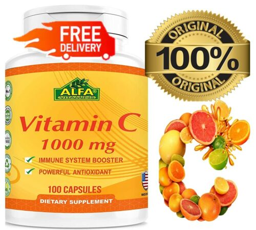 Vitamin C ALFA 1000 mg  Support the Immune System 100 Fast Shipping antioxidant