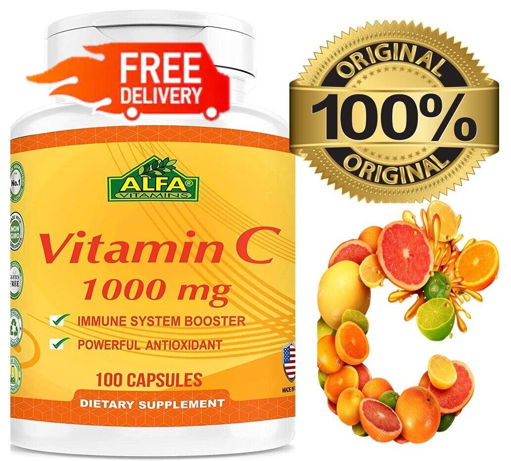 Vitamin C 1000 mg. 100 Capsules / la mejor y original Vitamina C made in USA 2