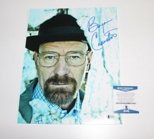 BRYAN CRANSTON SIGNED AUTHENTIC BREAKING BAD 'WALTER' 11X14 PHOTO BAS COA PROOF