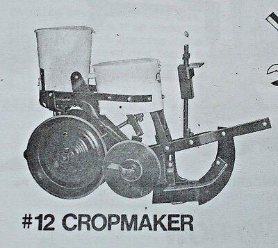 Cole Corn Pea Pumpkin Planter Fertilizer No 11 12 Owners Manual Parts List