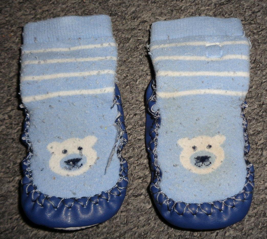Babyschuhe / Hausschuhe / Baby-Schlappen - blau, hellblau - Gr. 20 - 22 - Eisbär