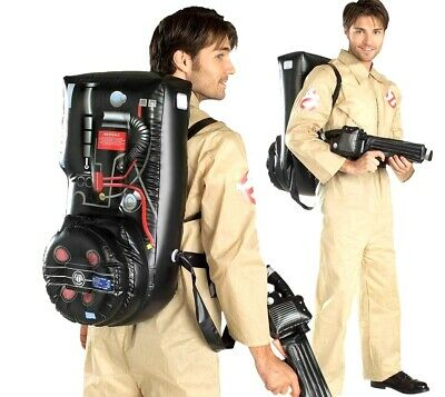 Official Mens GHOSTBUSTERS Fancy Dress Halloween 1980s Adult Costume + Backpack