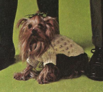Vintage Knitting Pattern Instructions Pet K9 Dog Cat Sweater Coat Blanket XXXV