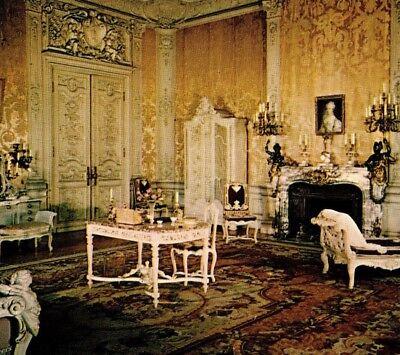 Mrs. Vanderbilt's bedroom Marble House mansion Newport RI Vintage Postcard - Newport Bedroom Collection