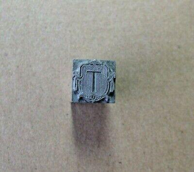 Vintage Letterpress Metal Printers Type Ornamental Letter T Crafts