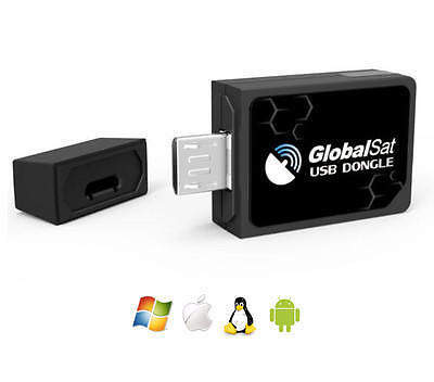 GlobalSat ND-105C Micro USB GPS for Android Tablets & Phones