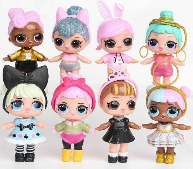 8 Pcs LOL Doll Baby Tear Surprise Series Kids Toy Plastic Figure Gift