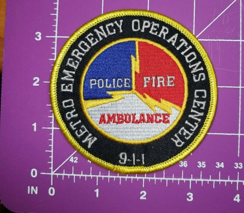 West Virginia Metro Emergency Operations Center 9-1-1 Patch