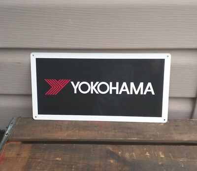 YOKOHAMA TIRES Metal Sign shop garage racing street off road track 6x12 50115