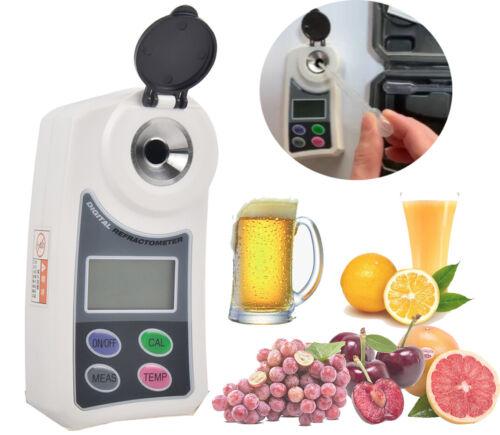 Digital Refractometer Brix Meter Sugar Content Tester Beer Crops Juice 0 to 55%