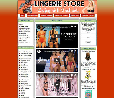 Women Lingerie Store Affiliate Website Ebayamazongoogleclickbankdropship