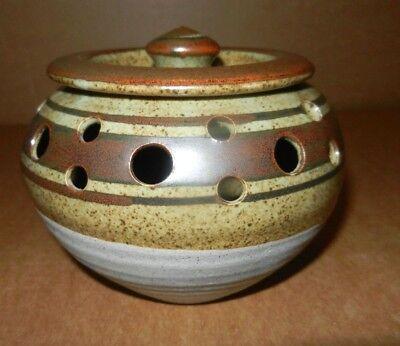 Studio Pottery - Nick Douglas Pottery - Lidded and Pierced Pot - Devon