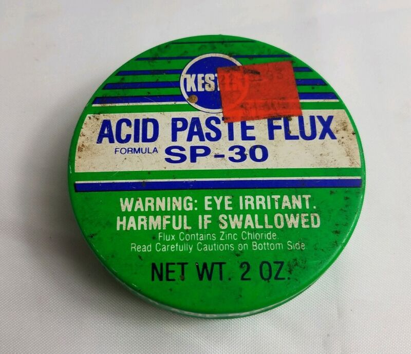 Vintage Kester SP-30 Soldering Acid Paste Flux 2oz