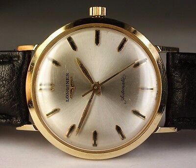 Vintage Longines 14K Solid Yellow Gold 32mm Automatic 19AS Swiss Men's Watch