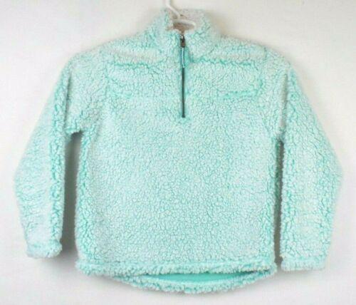 Cuddly Sherpa Girls Size 10 12 Quarter Zip Fleece Pullover Teal Soft