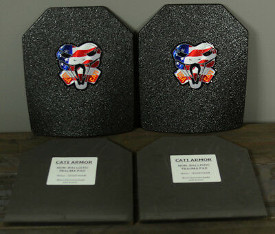 CATI AR500 Body Armor Base Coating Steel Plates Level III 10x12 PAIR