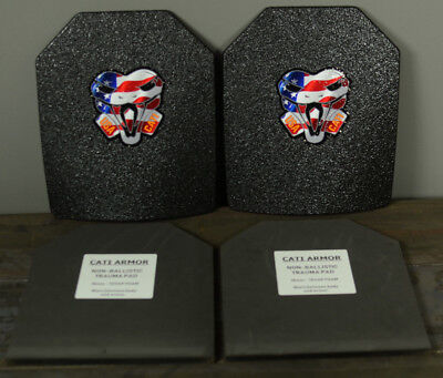 CATI AR500 Body Armor Steel Plates Base Coating Level III 10x12 PAIR