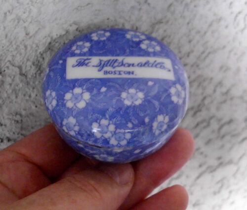 Antique,ceramic, RARE, c1895 BOSTON confectionary jar (Jackson # BJ 186) pot lid