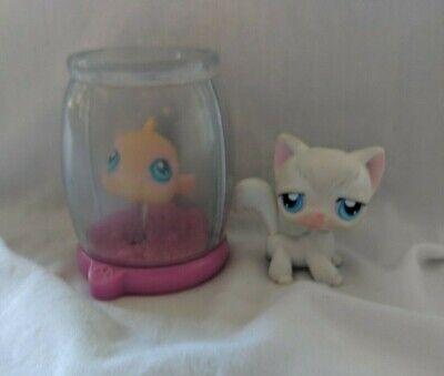 Littlest Pet Shop~#9~White Angora~Kitty Cat~#10~Goldfish~Magic Fish Bowl (Magic Fish Bowl)