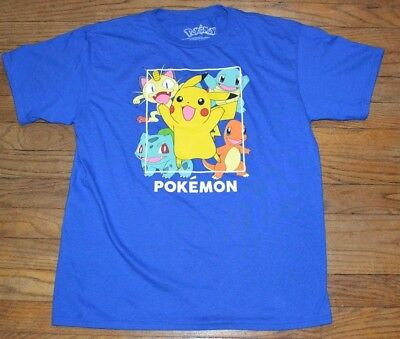Pokemon Character Tee Officially Licensed Boys T-Shirt Size XL Size 16/18 - Pokemon Boy Characters