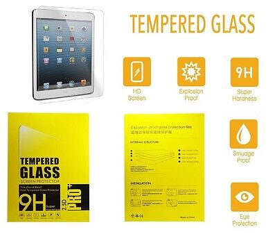 """100% Genuine Tempered Glass Screen Protector cover For NEW APPLE iPad 9.7""""(2017)"""