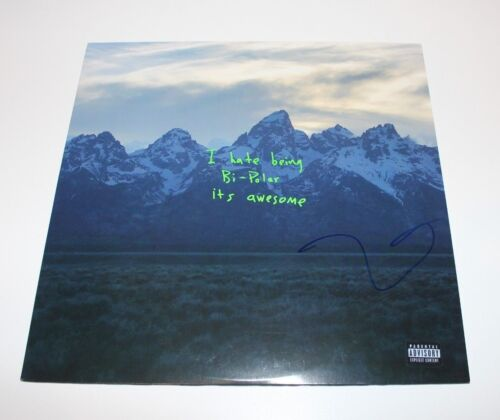 KANYE WEST SIGNED YE ALBUM VINYL LP 2018 w/COA YEEZUS YEEZY KIDS SEE GHOSTS