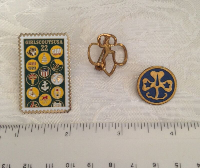 Vintage Girl Scout pins (3)