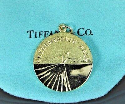 RARE Special Tiffany Co 18K Yellow Gold Presentation Ball Pendant Charm (Tiffany Specials)