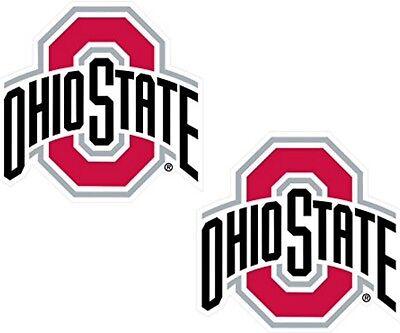 "Ohio State Buckeyes 3"", STICKER PREMIUM VINYL DECAL, SET OF 2 LICENSED NCAA"