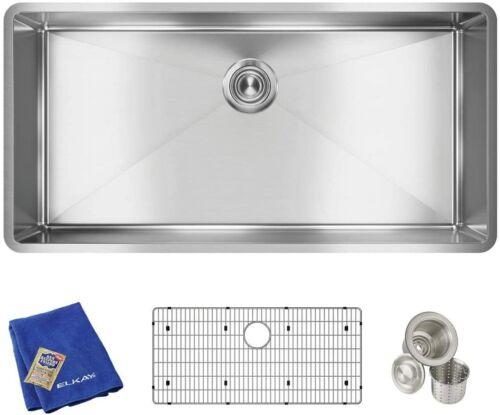 "Elkay ECTRU35179TC 37"" Single Bowl Sink - Stainless Steel"