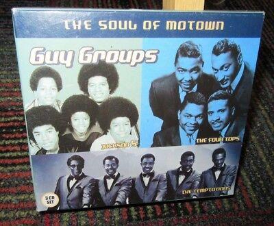 GUY GROUPS: THE SOUL OF MOTOWN 3-DISC MUSIC CD SET, JACKSON 5/FOUR TOPS/TEMPTATI (Groups Of Four)