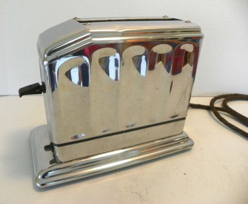 Vintage ART DECO Chrome Waters-Genter Co.Toast Master, 1A3 Single Slice Toaster