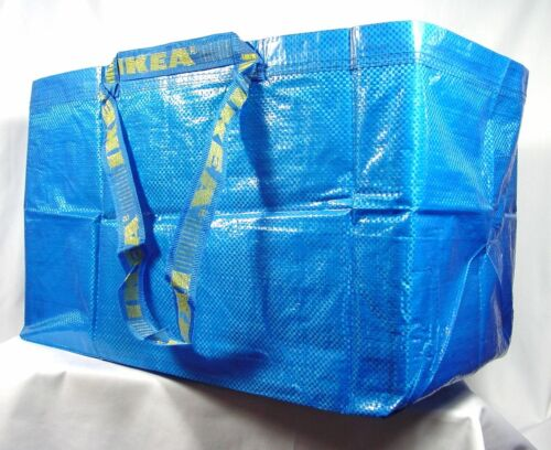 IKEA LARGE BLUE BAG Shopping Grocery Laundry Storage Tote Bags Strong FRAKTA