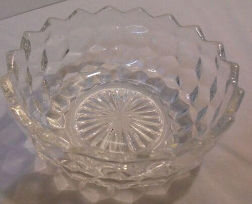 "Fostoria American Bowl, Crystal, Ground Bottom, 5.5"" Across, 2.25"" Tall Vintage"