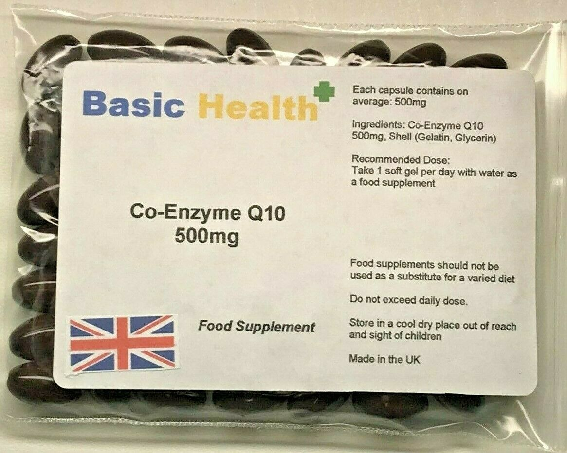 Co-Enzyme Q10 500mg x 30 Antioxidant Heart Energy Gum Disease