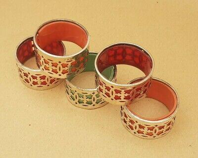 Set of Vintage EPNS Napkin Rings (Qty 5)
