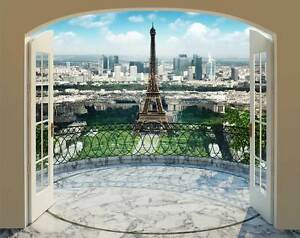 WALLTASTIC Fototapete Paris Eiffelturm Panorama Tapete +Tapetenkleister NEU