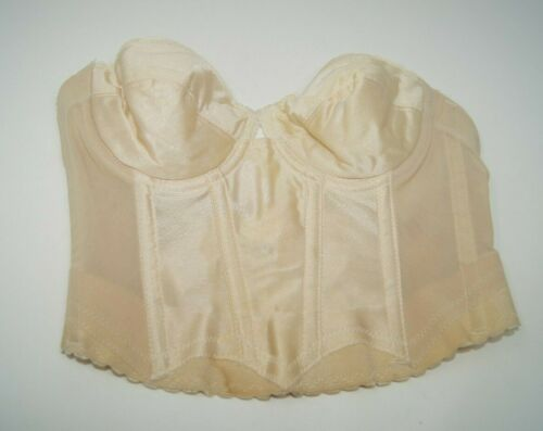 Vintage 34B Backless Bra Young Smoothie BUSTIER Corset underwire BONED BUST