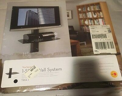 OmniMount Tria Shelf Wall Entertainment System Platinum NIB - NEW TV -