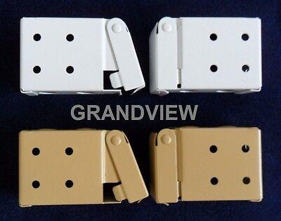 Circle Window - Window Venetian Blind Installation / Mounting Bracket Set Metal For Low Profile
