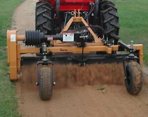 Harley Power Landscape Rake 6' Tractor, 3 Point Hitch Mount, Hydraulic Angle