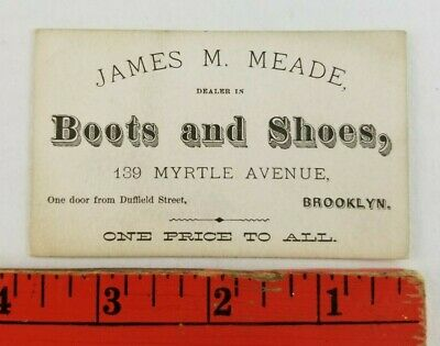 Vintage Boots and Shoes 139 Myrtle Avenue Brooklyn New York Business Card