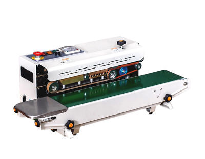 Usa Stocked Fr-900sh Horizontal Stainless Steel Band Sealer Machine Embosser