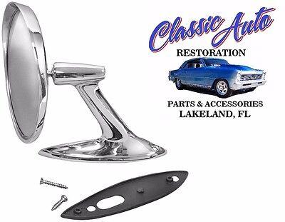 61-62 Chevrolet Round Bowtie Rear View Door Mirror BEST QUALITY M1036B /