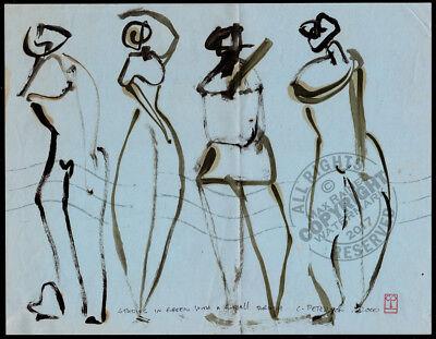 #23 Modern Art Figure Series ORIGINAL OIL PAINTING Expressive Cubism form (Modern Art Series)