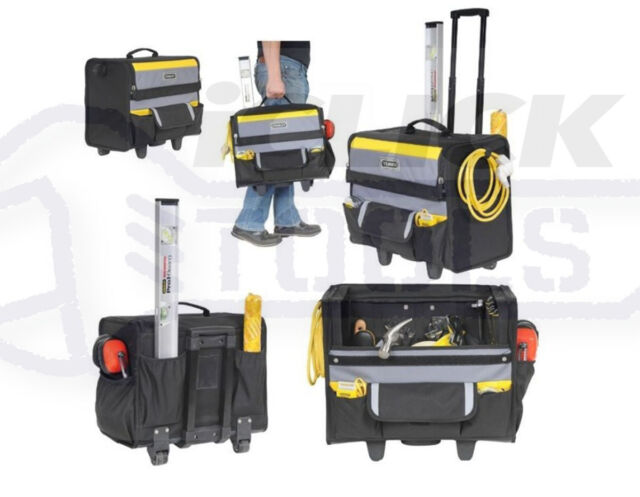 "Stanley STA197515 18"" Soft Tool Bag On Wheels Wheeled Storage Case 1-97-515 New"