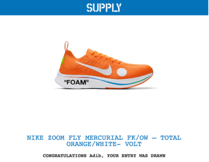 3e7a0412417c Off-white Nike Zoom Fly Mercurial Flyknit US 12
