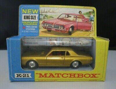 Matchbox Lesney King Size K-21 Mercury Cougar w/Original Box