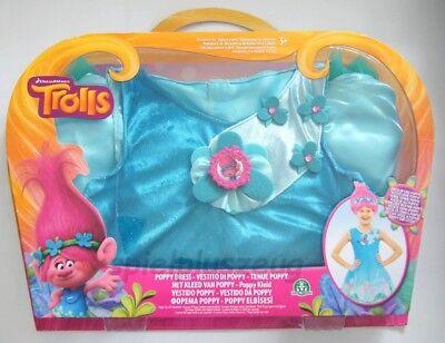 Trolls Poppy Kleid Kostüm Trollskleid für 4 - 6 Jahren Fasching Karneval NEU