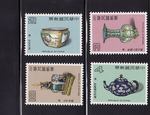 429 - Taiwan, RO China ,  1983 Ancient Chinese  Enamelware , 4V Mint